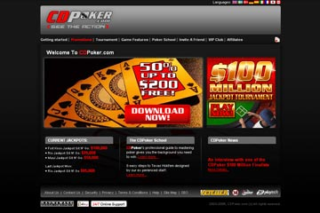 Picture of the CDPoker Homepage - Click to Download